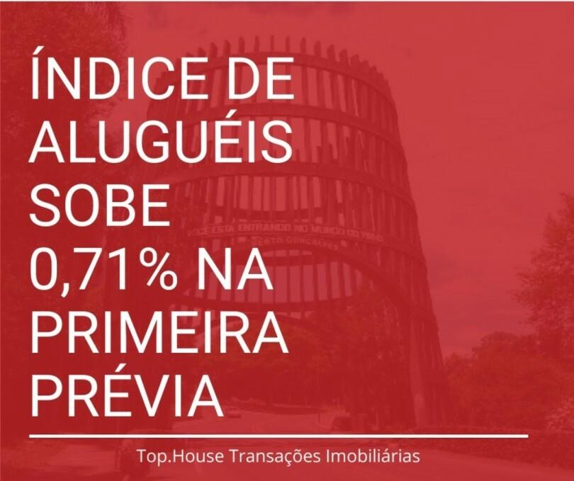 IGP-M, o �ndice dos alugu�is, sobe 0,71% na 1� pr�via de mar�o